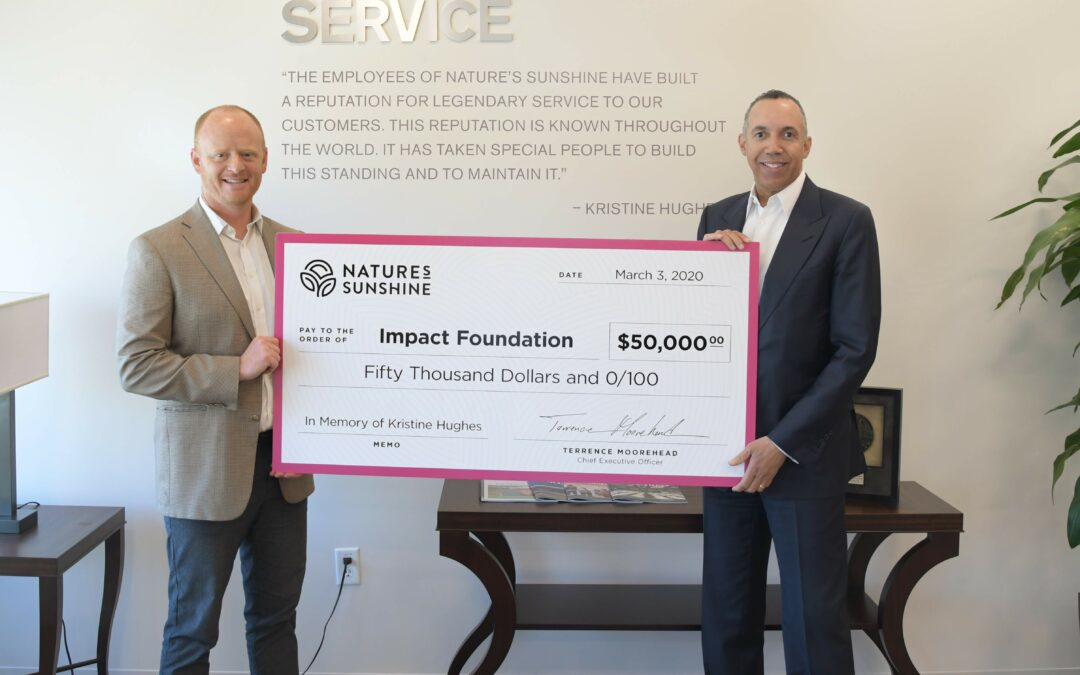 In Memory of Kristine Hughes: Nature's Sunshine Donates $50,000 to Impact Foundation