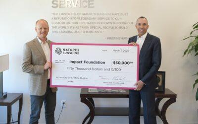 In Memory of Kristine Hughes: Nature's Sunshine Donates $50,000 to Impact Foundation
